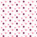Simple pink flower pattern colorfulness cute Royalty Free Stock Photo