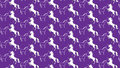 Simple purple background with some unicorns