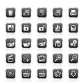 25 Simple Realistic Detailed Internet Icons Royalty Free Stock Photo