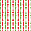 Simple retro geometric christmas pattern traditional colors background can be copied without any seams garland vector Royalty Free Stock Images