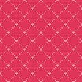 Simple retro seamless background wedding pattern with dots and hearts Royalty Free Stock Images
