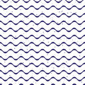 Simple ribbon waves and speckled backdrop seamless vector print navy Royalty Free Stock Photo