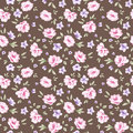 Simple rose pattern floral seamless background your design scrapbooking Royalty Free Stock Images