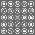 Simple round web icons Royalty Free Stock Photos