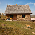 Simple rural house Royalty Free Stock Photo