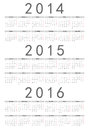 Simple russian year calendar vector Royalty Free Stock Images