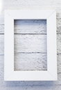 Simple rustic white frame and textured background empty rectangular rough painted wooden with copyspace for you to display your Stock Photography