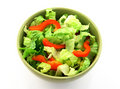 Simple salad in a green bowl Royalty Free Stock Image