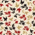 Simple Seamless Background Of Leaves Royalty Free Stock Photography