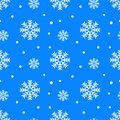 Simple seamless pattern with snowflakes. Winter endless background. Vector illustration