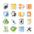Simple Server Side Computer icons Royalty Free Stock Photo