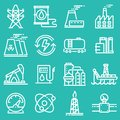 Simple set of industry power related vector icons