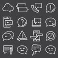 Simple Set of Message Related Vector Line Icons