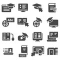 Simple Set of Online Education Related Vector Icons Royalty Free Stock Photo