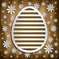 Simple shape of Easter egg on brown background Royalty Free Stock Photo