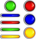 Simple Shiny Buttons Royalty Free Stock Photo