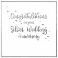 Simple, Silver Wedding  Anniversary Card Royalty Free Stock Photo