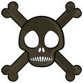Simple skull Stock Images