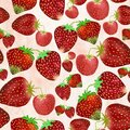 Simple small hand drawn strawberries seamless pattern