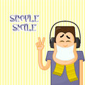 Simple smile Royalty Free Stock Photo