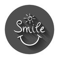 Simple smile vector icon.