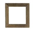 Simple Square Wooden Photo Frame isolated on white background Royalty Free Stock Photo
