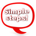 Simple steps Stock Images