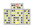 Simple stylized hospital building illustration Stock Image