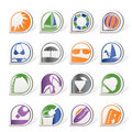 Simple Summer and Holiday Icons Royalty Free Stock Photos