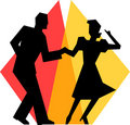 Simple Swing Dance Couple/eps Royalty Free Stock Images