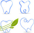Simple tooth illustrations illustration collection healthy teeth abstract on a white Stock Image