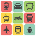 Simple transport icons set vector eps illustration Stock Photo