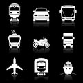Simple transport icons set vector eps illustration Royalty Free Stock Photo
