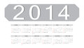 Simple vector 2014 calendar Royalty Free Stock Photo