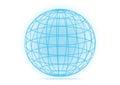 Simple vector grid earth globe icon