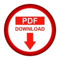Vector Pdf file download button red color icon Royalty Free Stock Photo