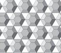 Simple vector pattern - hexagonal diamonds Royalty Free Stock Image