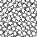 Simple vector pattern - lines on white background Stock Photography