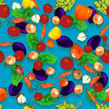 Simple vegetables pattern Stock Photography