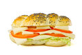 Simple vegetarian sandwich on white background Stock Image