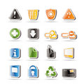 Simple Web site and computer Icons Royalty Free Stock Photo