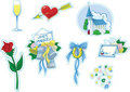 Simple Wedding Icons #2 Royalty Free Stock Photography