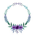 Simple Wreath With Watercolor ...