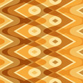 Simple yellow scalloped seamless pattern