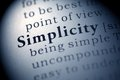 Simplicity fake dictionary dictionary definition of the word Royalty Free Stock Photo