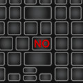 Simplified keyboard with one word only . Black laptop keyboard with a button abolition . Eps 10 illustration