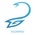 Simplistic scorpio zodiac star sign illustration of lines isolated on a white background Royalty Free Stock Images