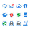 Simplus series icon set network connections and mobile devices Stock Photos