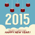 Simply and clean new year card vector illustration Royalty Free Stock Photography