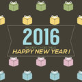 Simply and clean new year card vector illustration Stock Photography